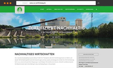 Webdesign Concrete Sustainability Council